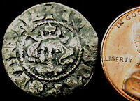 P789: Edward 1st Medieval Hammered Silver Canterbury Penny, 1279-1307. Crown 4