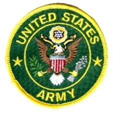 US ARMY EMBROIDERED ROUND PATCH USA UNITED STATES MILITARY PATCHES
