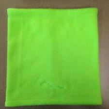 Fleece Tube Style Winter Scarf Cowl Neck Warmer Gaiter Lime Green
