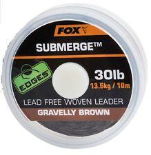 Fox Submerge Lead Free Leader Brown 30lb x 10m Bleifrei fast Sinking NEW OVP