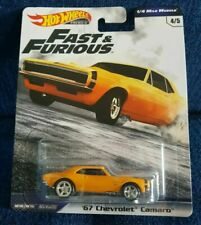 New 1/4 Mile Muscle - FAST & FURIOUS - #4/5 '67 Chevrolet Camaro SS HOT WHEELS