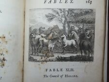 1728 FABLES by JOHN GAY with 49 PLATES and many TAILPIECES SECOND EDITION