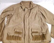 Vtg Columbia Canvas Hunting Coat Jacket Radial Sleeve Shooting Ammo Shell XXL