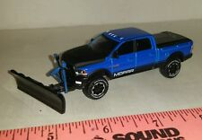 1/64 CUSTOM ERTL farm toy 2017 dodge 2500 blu mopar snow plow blade pickup truck