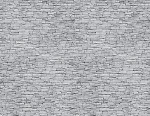 O Scale Stone Model Train Scenery Sheets –5 Seamless 8.5x11 Gray