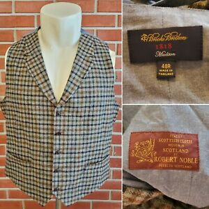 Brooks Brothers 1818 Madison Robert Noble Wool Scotish Waistcoat Vest Check EUC