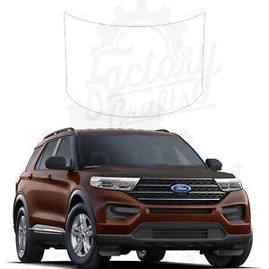Carbon Fiber Vinyl Decal Hood Wrap for Ford Explorer XLT 2020