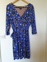 Phase Eight Abstract Floral Stretch Tie Detail Dress Size 18