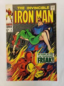 Iron Man #3 1968 MARVEL Comics Fine+ F+ 6.5