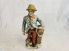 Flambro Porcelain Figurine Old Man Standing By Horse Corral Pt2