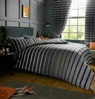 Stripe Print Duvet Cover Set Single Double Super King Size Stripe Bedding Set