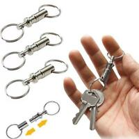 3x Detachable Removable iron Alloy Pull Apart Quick Release Key Rings Wholesal