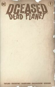 DCEASED DEAD PLANET #1 (OF 6) NM BLANK VARIANT COVER D