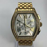 Michael Kors Womens MK-5898 Gold Chronograph Movement Quartz Analog Wristwatch