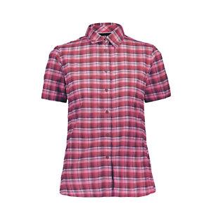 CMP Damen Kurzarm Bluse - Woman Shirt Bounganville Bianco