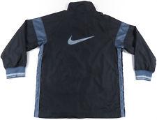 Nike Negro y Gris Logo Grande Cremallera Completa Nailon Cortavientos