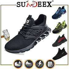 SUADEEX Herren Arbeitsschuhe Damen Sicherheitsschuhe Sneaker Stahlkappe S3 SRC