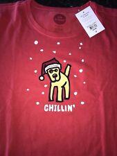 NWT Life is good Crusher Shirt Woman's XX-Large Chillin' Rocket Dog Santa Hat
