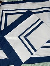 Pottery Barn Standard Pillow Sham Pair Blue White 100% Cotton