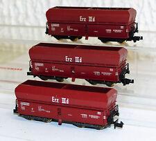 3x Fleischmann 8520 Piccolo Erz IIId Selbstenladewagen Fad167 Spur N