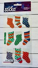 Sticko Stockings Foil Stickers Planner Papercraft Holiday Xmas Crafts Cards