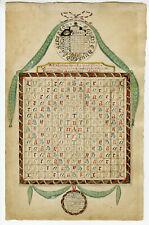 Original Drawing-PERPETUAL CALENDAR-Pauline Hendrina Baarspul-1798