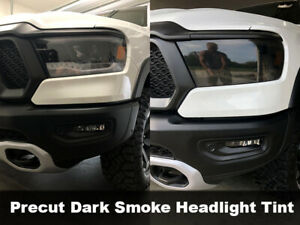 Crux Moto Headlight tint Precut Dark Smoke 20% fits Ram Rebel 2019 +