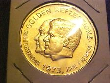 MARDI GRAS Kennedy Ike Youth 1973 Goldtone Doubloon Token Coin G313