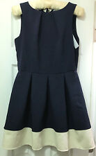 Modcloth Closet London Luck Be a Lady A-Line Dress in Navy Contrast US 10 UK 14