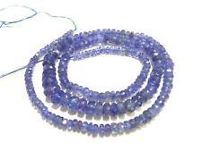 "100% Natural Tanzanite Rondelle 3-5mm, 16""inch Necklace Gemstone Beads"