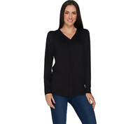 Laurie Felt Knit Rayon Made From Bamboo Blend Perfect Tee Black, Large, A301680