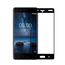 Pellicola VETRO trasparente display Bordo Nero per Nokia 8 protezione schermo