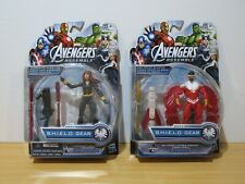 "Hasbro Avengers Assemble SHIELD Gear 3.75"" Lot of 2 Falcon and Black Widow"