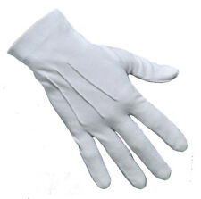 100% Cotton Ceremonial White Dress Gloves Parade Masonic Services Magic Marching