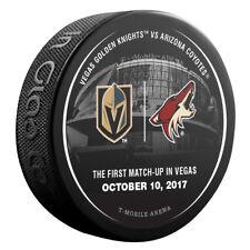 VEGAS GOLDEN KNIGHTS vs ARIZONA COYOTES NHL Matchup Hockey Puck 10/10/17 - NEW