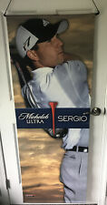 Michelob Ultra Beer Adidas Golf Pga Ultra Promo Banner Tiger Woods Sergio Garcia