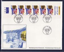 grande enveloppe 1er jour  journée du timbre  bande carnet   ; 1992
