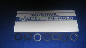 MG MGB ROADSTER GT FRONT WHEEL BEARING  SHIM KIT 7 ASSORTED  zh37 GHK 1005 shims