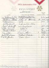 1973 PGA 18TH PRESIDENT AND HALL OF FAMER WILLIAM CLARKE SIGNED GUEST REGISTER