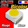 128# LED CMS 3528 bicolor rouge et blanc  dispo 10 à 100pcs -- red / white