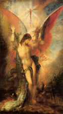Dream-art Oil painting Gustave Moreau Saint Sebastian & the Angel Hand painted
