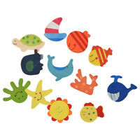 48pcs coloured wooden magnets drawing anime for children. WS