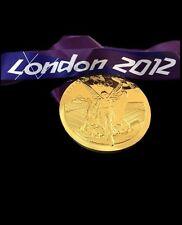 """London 2012 Olympic """"ORO"""" MEDAGLIA CON NASTRO DA COLLEZIONE MOLTO RARA MEDAGLIA"""