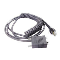 3m RS232 Coiled Barcode Scanner Cable For Motorola Symbol LS2208 LS4208 DS6708