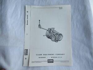 1961 Clark equipment 250v 290v 300v 400v remote control data brochure