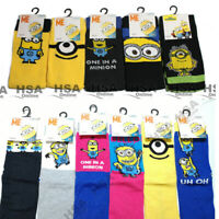 NEW! 40 Pairs Mens OR Ladies Minions Socks Despicable Me Job Lot / Wholesale