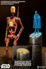"Sideshow 1/6 GEONOSIS COMMANDER BATTLE DROID+DOOKU HOLOGRAM Star War 12""Hot Toys"