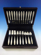 Rsvp by Towle Sterling Silver Flatware Set For 12 Service Midcentury Modern