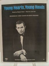 Young Hearts Young Hands Sheet Music Jimmy Damon Piano Voice Guitar 60s Jazz F2F