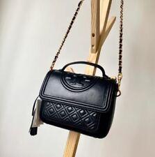TORY BURCH Fleming Satchel Women's Bag 45147 [Black]  + Tracking Number